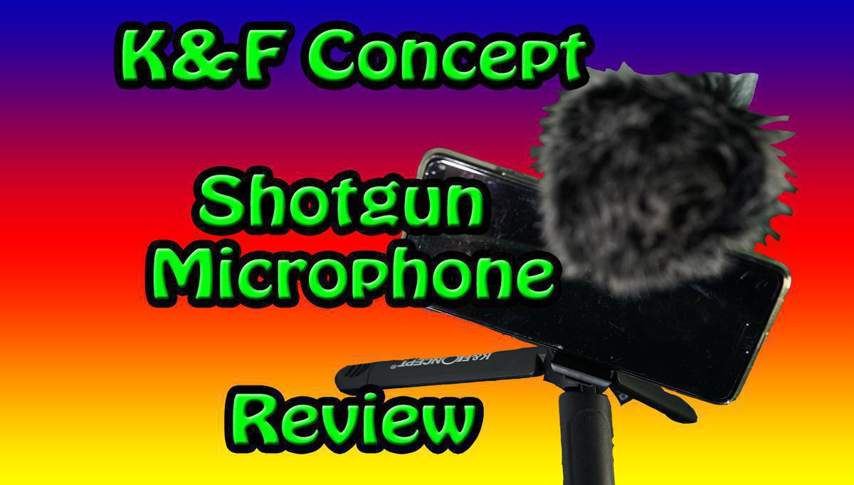 microphone shotgun knf concept with smartphone